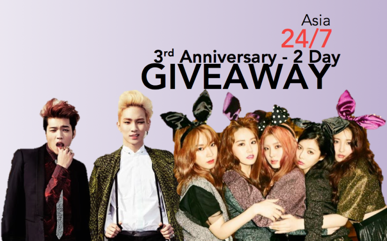 Asia 24/7 3rd Anniversary - 2 Day Giveaway