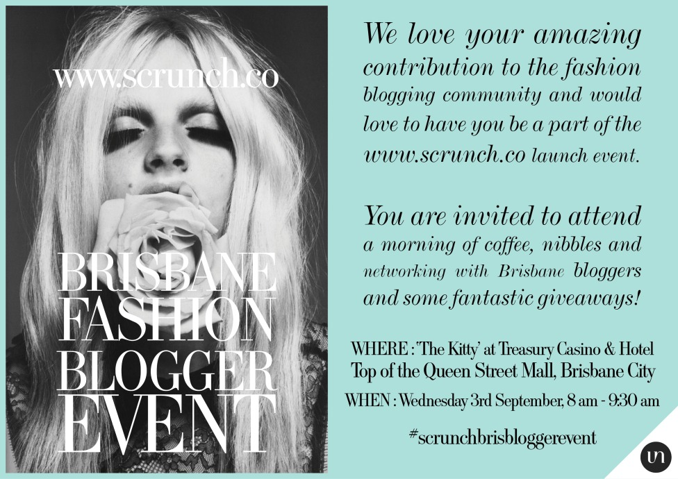 scrunch blogger breakfast invite